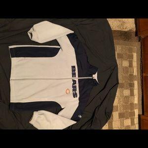Reebok Chicago Bears stitched Zip up jacket size M